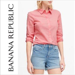 Banana Republic Riley Tailored Fit Shirt Size 6